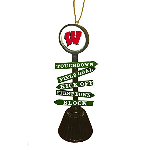 Team Sports America University of Wisconsin-Madison Fan Crossing Ornament