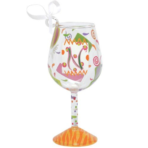 Santa Barbara Design Studio Lolita Holiday Mini-Wine Ornament, Letter N