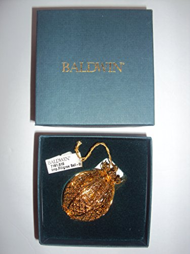 "Baldwin Imp.Filigree Ball #7160.010 ""The Estate Collection"" Edition 3-D Brass Holiday Ornament"