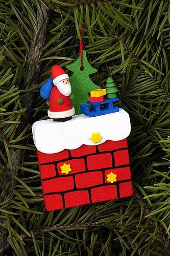 chr. Ulbricht Ornament–Santa Merry Christmas 5X 7CM