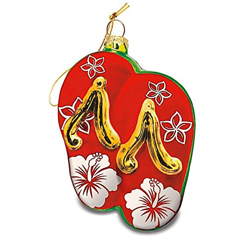 Merry Slippers Red Collectible Glass Hawaiian Ornament