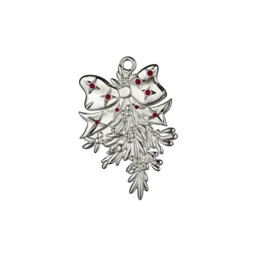 WATERFORD SILVERPLATE ORNAMENTS 2013 mistletoe ornament by Waterford