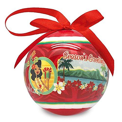 Island Heritage Mele Hula Art Stock Glossy Island Christmas Ornament