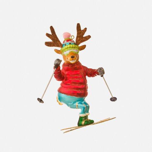 Skiing Reindeer Ornament