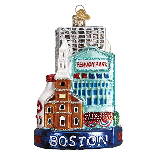 Old World Christmas Boston City Handcrafted Hanging Tree Ornament
