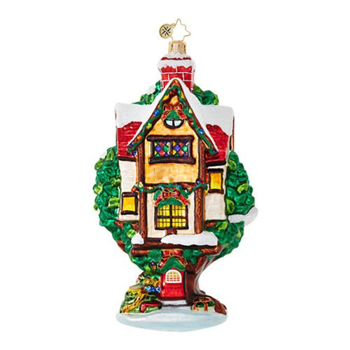 Christopher Radko Tree Limb Luxury Cottages & Houses Christmas Ornament