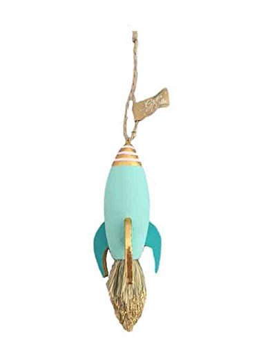 One Hundred 80 Degrees Rocket Hanging Ornament (Turquoise)