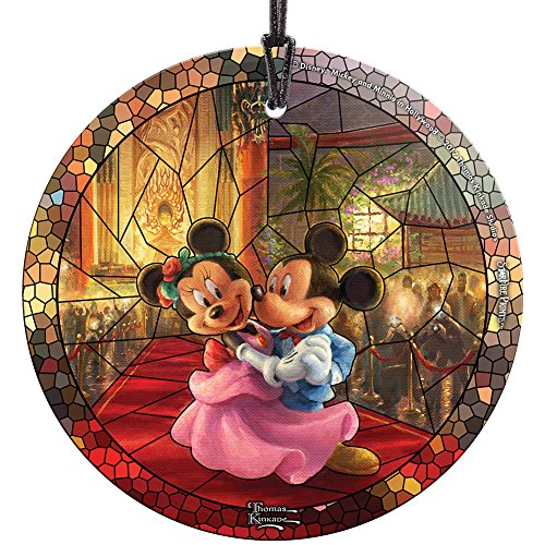 Disney Thomas Kinkade Mickey And Minnie In Hollywood Christmas Tree Ornament