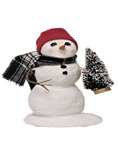 Byers' Choice Small Snowman with Tree SN2T- New for 2016