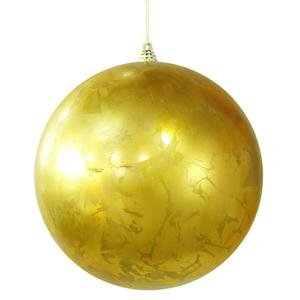 Vickerman 12″ Antique Gold Foil Finish Christmas Ball Ornament
