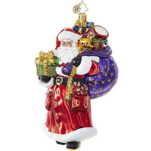 Christopher Radko An Easy Lift Santa Claus Christmas Ornament