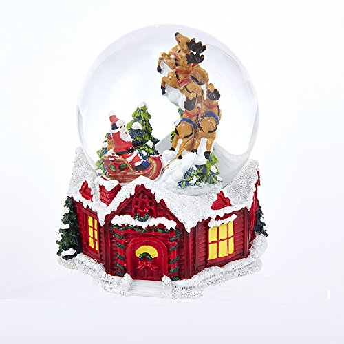Kurt Adler J3255 100mm Musical Santa House Waterglobe
