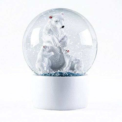 WOBAOS Snow Globe crafts- Sculptured Resin Water Ball – Christmas Valentine's day birthday holiday new year's gift (Diameter 60mm-80mm) (Diameter 80mm, Polar Bear)