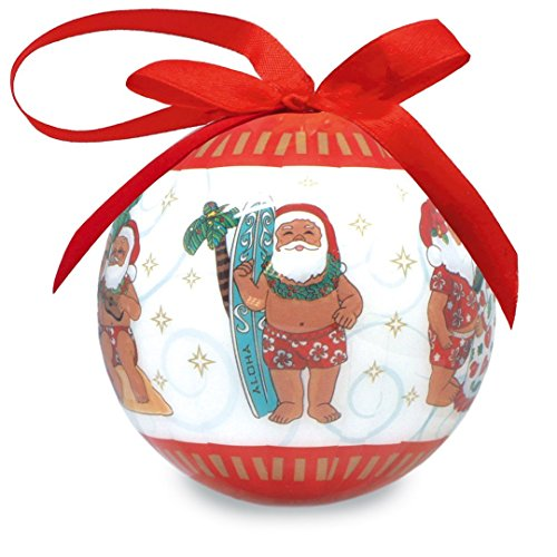 Mele Santa Glossy Island Holiday Ornament