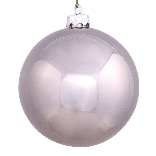 Vickerman 6″ Pewter Shiny Ball Ornament 4 per Box