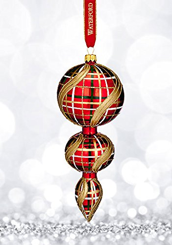 Waterford Holiday Plaid Triple Spire Ornament
