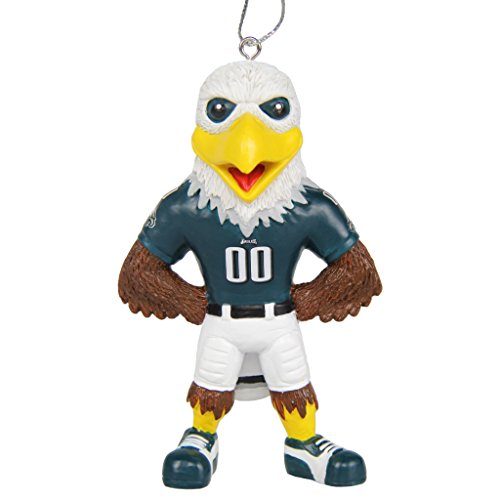 PHILADELPHIA EAGLES MASCOT ORNAMENT 4 INCHES READY TO HANG