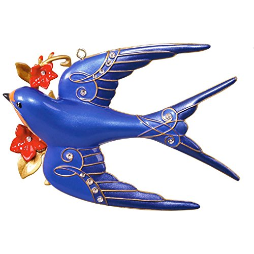 Hallmark Keepsake 2017 Stunning Swallow Premium Metal Christmas Ornament