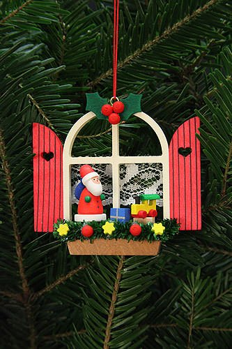 Tree ornaments Tree Ornaments Advent Window with Niko – 7,6×7,0cm / 3×3 inch – Christian Ulbricht