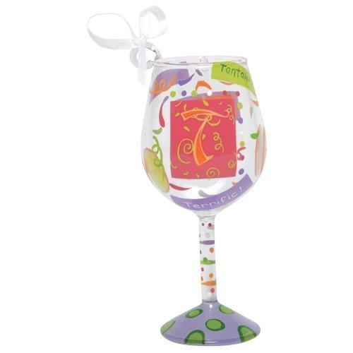 Santa Barbara Studio ORN5-5515T Lolita Mini Wine Ornament – Letter T