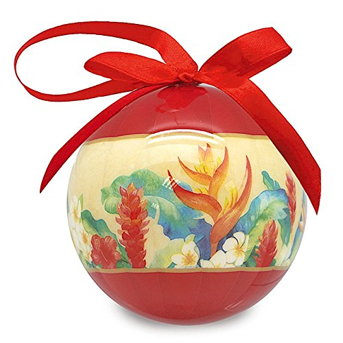 Island Heritage Mele Garden Art Stock Glossy Island Christmas Ornament
