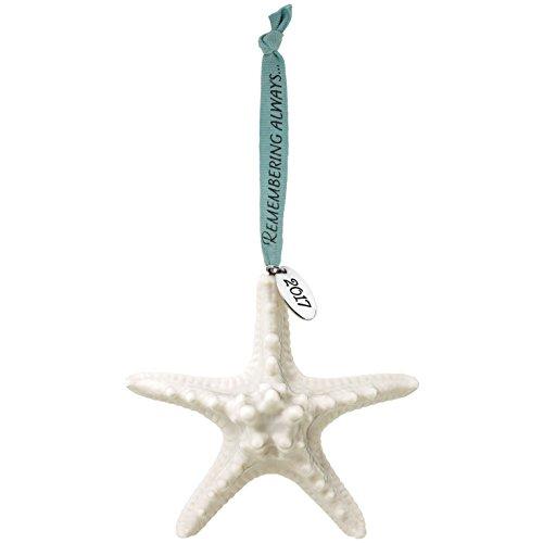 Hallmark Keepsake 2017 Remembering Always Starfish Bereavement Dated Porcelain Christmas Ornament