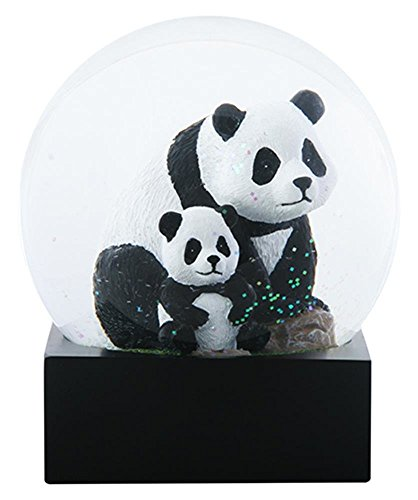 4.5 Inch Adult Panda with Baby Panda sitting in Water Globe