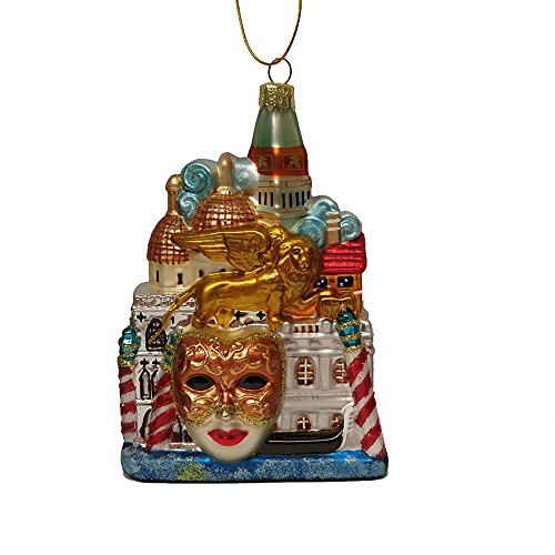 Kurt Adler C7569 5″ Venice Cityscape Glass Ornament