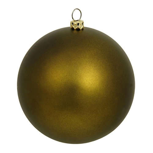 Vickerman 60 Count Matte Olive Green Shatterproof Christmas Ball Ornaments, 2.5″