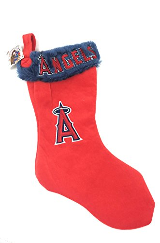 Forever Collectibles Solid Team Color Chirstmas Stocking (Los Angeles Angels)