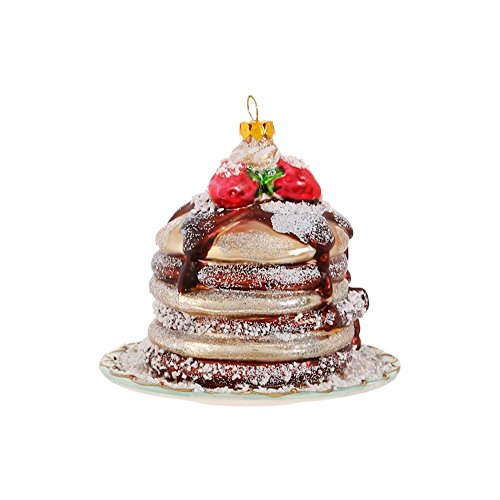 RAZ 4″ Pancake Stack Christmas Glass Ornament