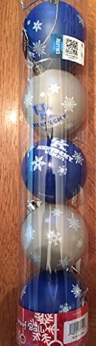 Kentucky 2016 5 Pack Shatterproof Ball Ornament Set