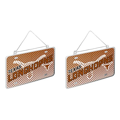 NCAA Texas Longhorns Metal License Plate Christmas Ornament Bundle 2 Pack By Forever Collectibles