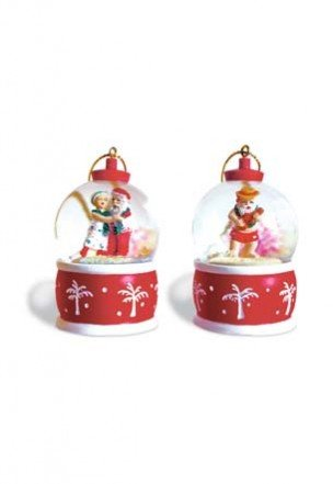 Island Snow Globe Ornaments
