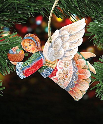 G.DeBrekht's Flying Easter Angel Wooden Ornament Set of 3 #8154154-S3