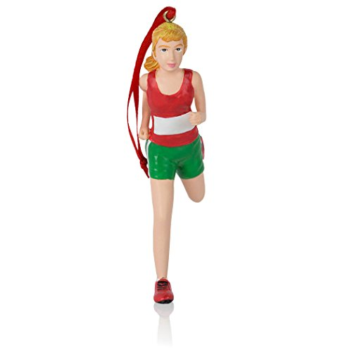 Runner Girl Figure Christmas Ornament   Running Ornaments by Gone For a Run