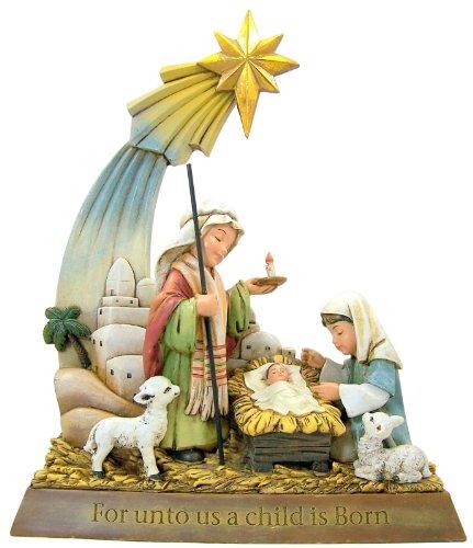 CB Gift TC617 Unto Us a Child is Born Nativity Figurine, 9.25″