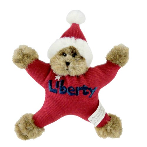 Boyds Bears Plush Liberty Star Bear Ornament Patriotic Santa Christmas – Plush & Fabric 4.50 IN