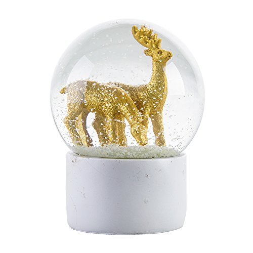 WOBAOS Snow Globes Valentine's day birthday holiday gift Lighting crafts – snowglobes crystal ball new year's gif (Diameter 80mm-100mm) (Diameter 100mm, Deer)