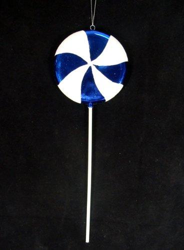 Vickerman Huge Candy Fantasy Blueberry Swirl Lollipop Christmas Decoration Ornament, 40″