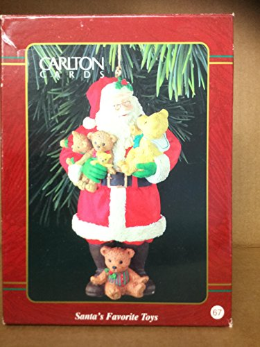 CARLTON ORNAMENT SANTA's FAVORITE TOYS