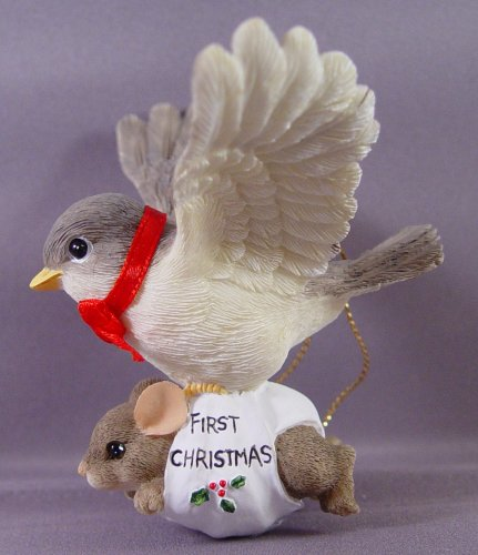 "Charming Tails Ornament 86/655, ""Bundle of Joy Baby's 1st Christmas"""