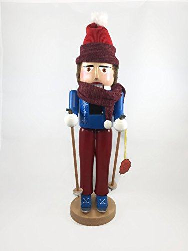 Steinbach Nutcrackers Wooden Skier NC 18 Inches Tall Collectible Christmas Figures Kurt Adler Brand New Hand Made in Germany