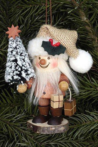 Tree ornaments Tree ornament Santa Claus natural – 10,5cm / 4 inch – Christian Ulbricht