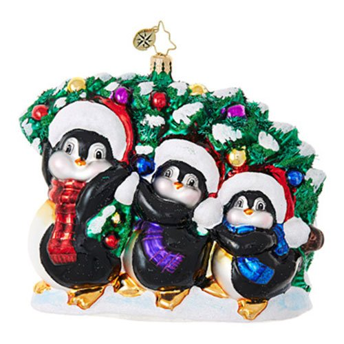 Christopher Radko Tree Trimming Trio Penguin Animal Christmas Ornament