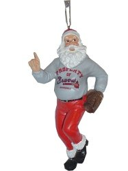Atlanta Braves Santa Claus Christmas Ornament