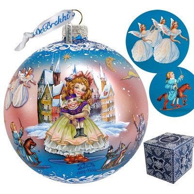 G. Debrekht Limited Edition Nutcracker Fairytale Glass Ball Ornament, 5.5″