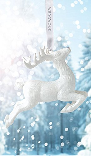 Wedgwood White Christmas Reindeer Ornament