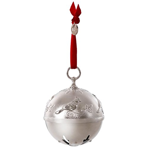Hallmark Keepsake 2017 Ring In the Season Bell and Cardinal Premium Metal Dated Christmas Ornament