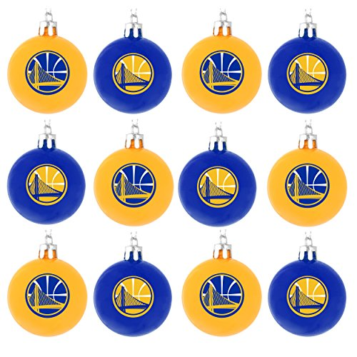 Golden State Warriors NBA 12 Pack Ball Ornament Set